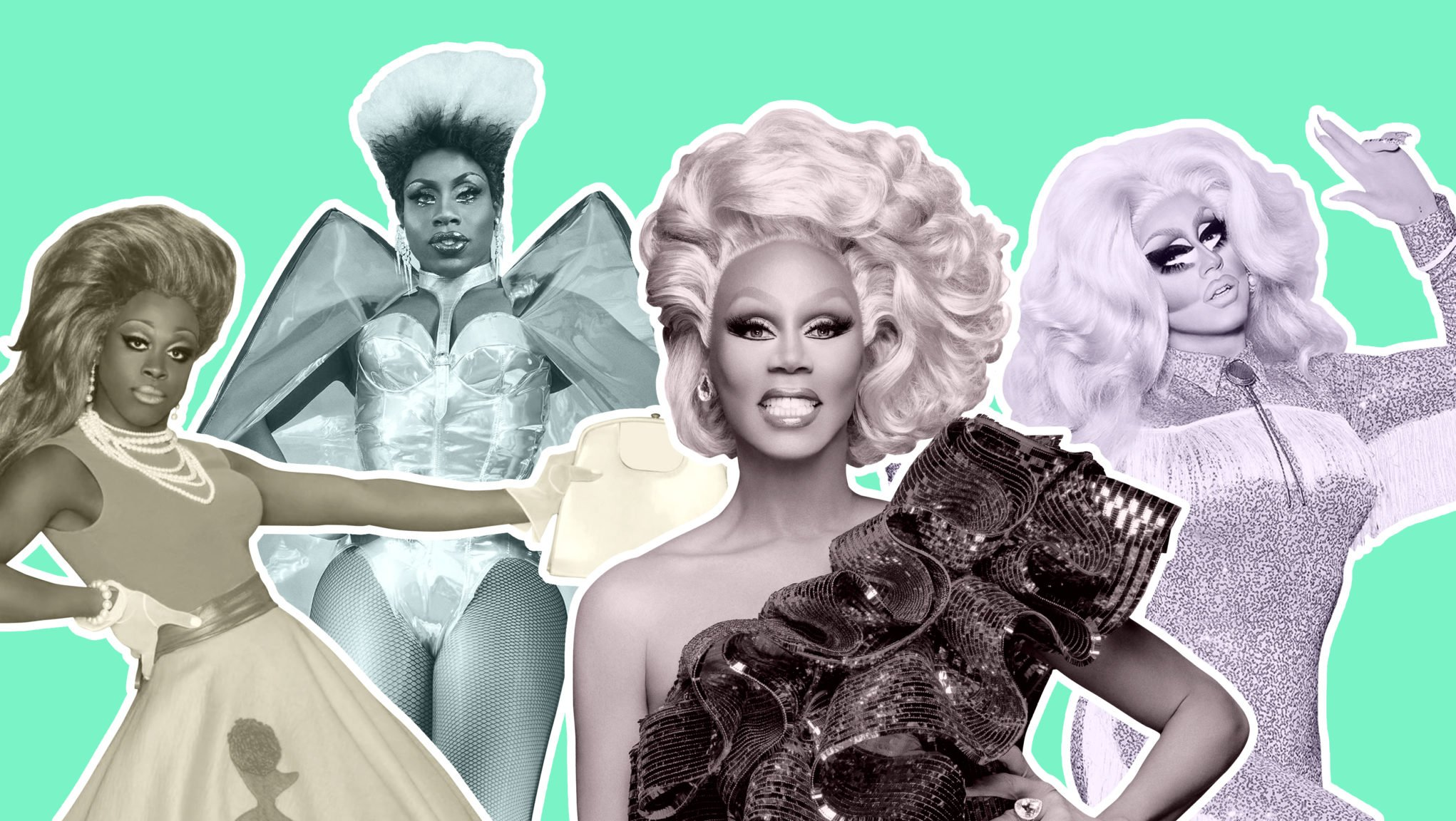 In the image for the article, Is 'RuPaul's Secret Celebrity Drag Race' worth your time?, we see Bob The Drag Queen, Monet X Change, RuPaul and Trixie Mattel