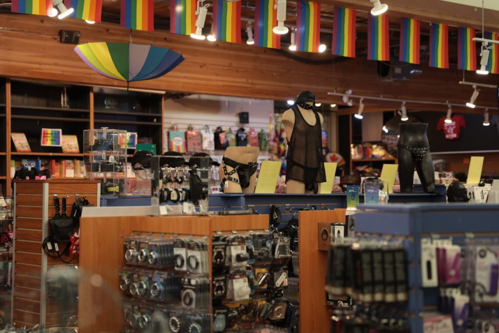 Inside Little Sister's Art and Book Emporium in Vancouver, an LGBTQ2 business affected by COVID-19.