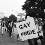 Activists at a Pride march in Toronto in 1974.