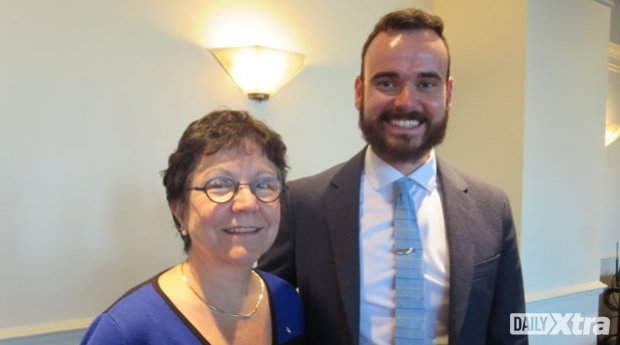 Former Supreme Court of Canada justice Louise Charron and Trudeau Foundation scholar Kyle Kirku...