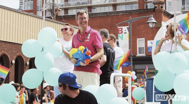 Mayor Jim Watson takes part in the 2013 Capital Pride parade.