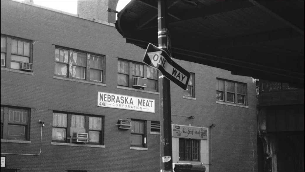 The original Nebraska Meat company on the corner of Washington and 13th St. A small section of ...